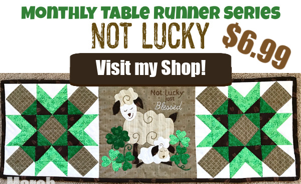Table Runner Feeling Lucky
